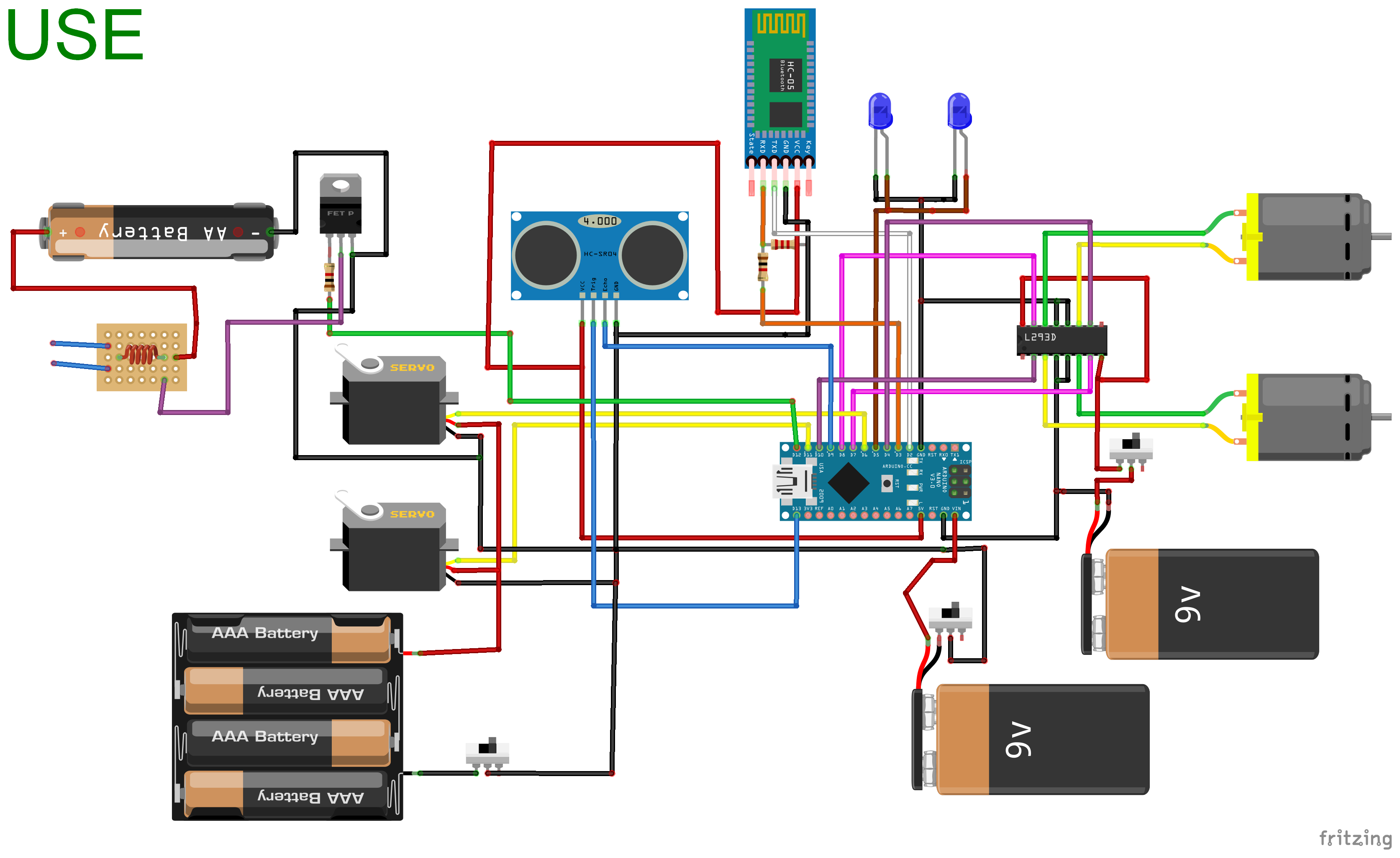 Circuit with Fritzing