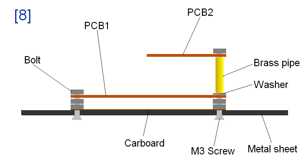 Two-floor pcb support